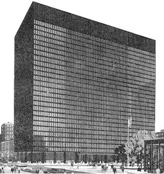 Rendering of the Dirksen Federal Building containing the 7th Circuit