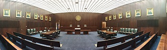 Photo of the 7th Circuit Courtroom in the Dirksen Federal Building
